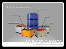 Custom Reusable Plastic Containers and Pallets